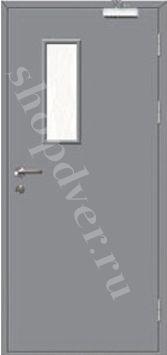Металлические технические двери Металл с 2-х сторон в порошковом напылением с стеклопакетом