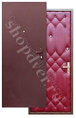 Металлические двери порошковый окрас+дутая (винилискожа)